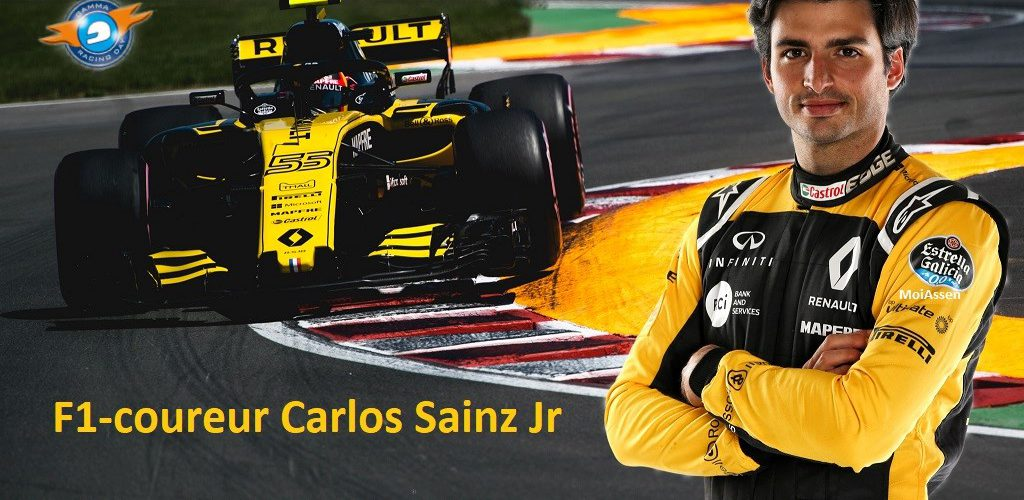 F1-coureur Carlos Sainz Jr. geeft demonstratie tijdens Gamma Racing Day 2018 Assen