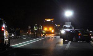 Ernstig verkeersongeval op de N34 tussen Zuidlaren en De Punt