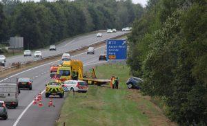 Automobilist gewond bij ongeval op de A28 bij Assen