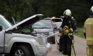 Autobrand in Amen tijdig geblust
