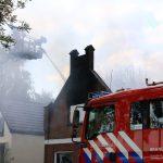 Woningbrand in Valthermond