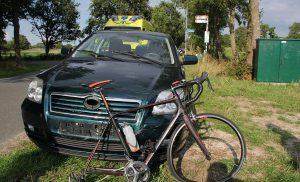 Wielrenner gewond bij aanrijding op de Hornweg bij Peize