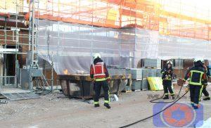 Brandje op bouwplaats Vredeveldseiland in de wijk Assen-Oost