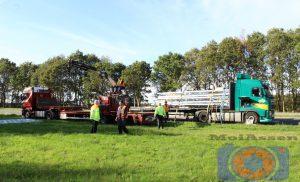 Vrachtwagen dreigt lading te verliezen op de Afslag Assen-Noord
