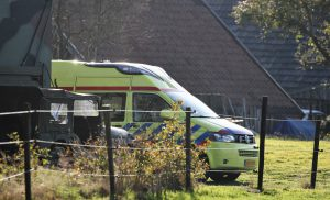 Ongeval achter woning in Gasselte (dr)