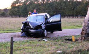Eenzijdig ongeval op de Oudemolenseweg in Gasteren
