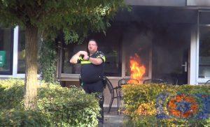 Brand bij dagcentrum Valkenhof in de wijk Noorderpark in Assen