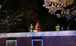 Fikse schoorsteenbrand in Eext