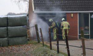 Schuur van de rode haan gered door snel ingrijpen brandweer Borger en Tweede Exloërmond
