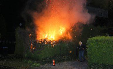 Forse coniferenbrand op de Vleerwal in Gieten