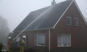 Dakbrand in Nieuwe Diep (Gem Aa en Hunze)