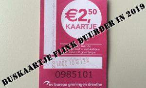 Buskaartje in Groningen en Drenthe wordt flink duurder