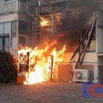 Forse brand bij tandartspraktijk Dental Clinics in het centrum van Assen