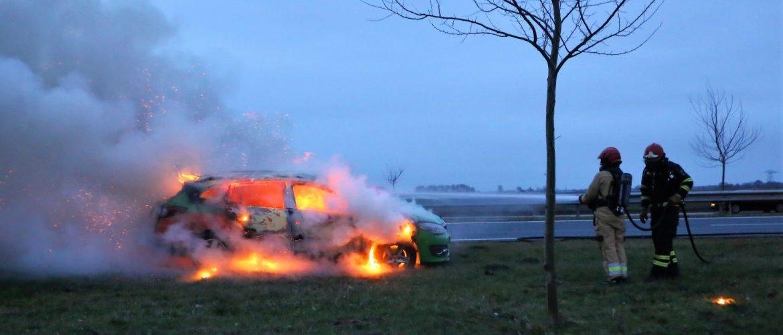 Autobrand N33 bij Wildervank