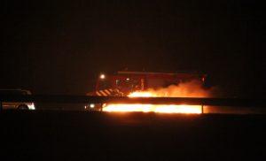 Auto brand uit op A28 ter hoogte van Assen