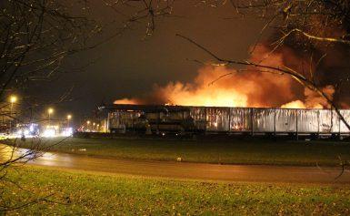 Zeer grote brand bij afvalverwerker Attero in Wijster