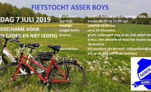 Fietstocht (110 jaar) Asser Boys op zondag 7 juli 2019