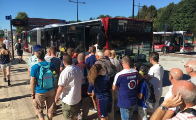 Dag en nacht bussen tijdens TT Assen