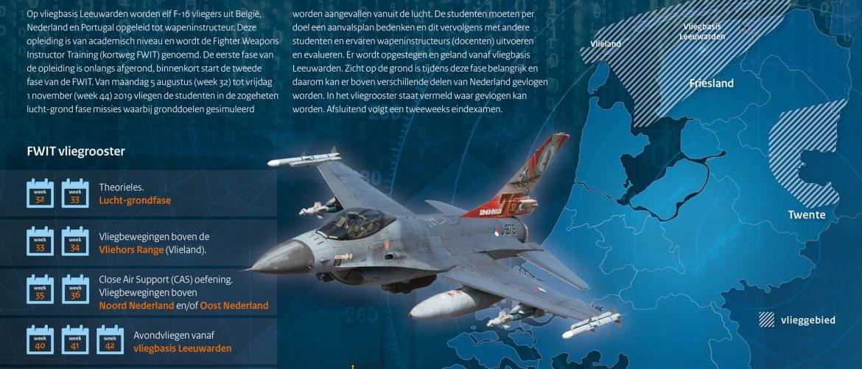 F-16 wapeninstructeursopleiding hervat boven Nederland